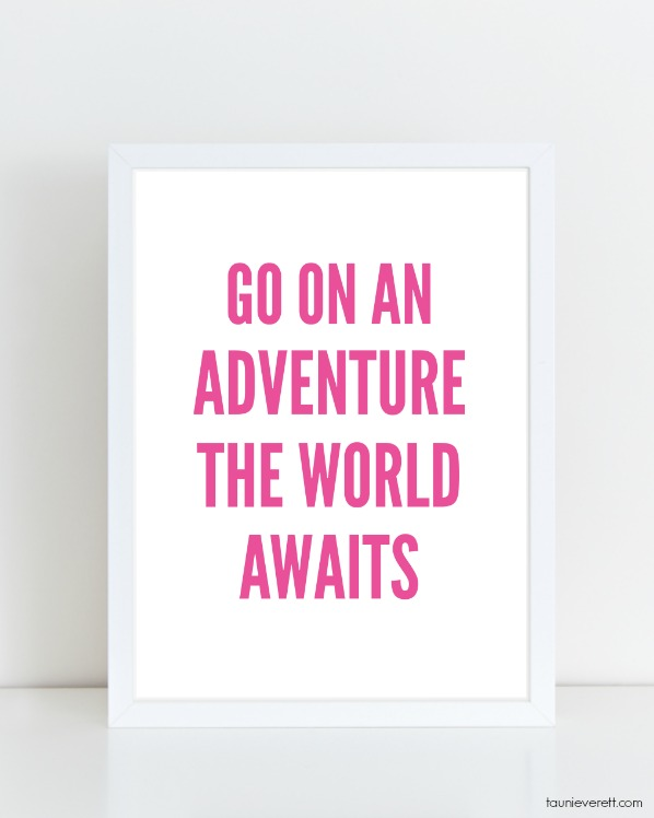 Free downloadable travel and adventure themed poster print.