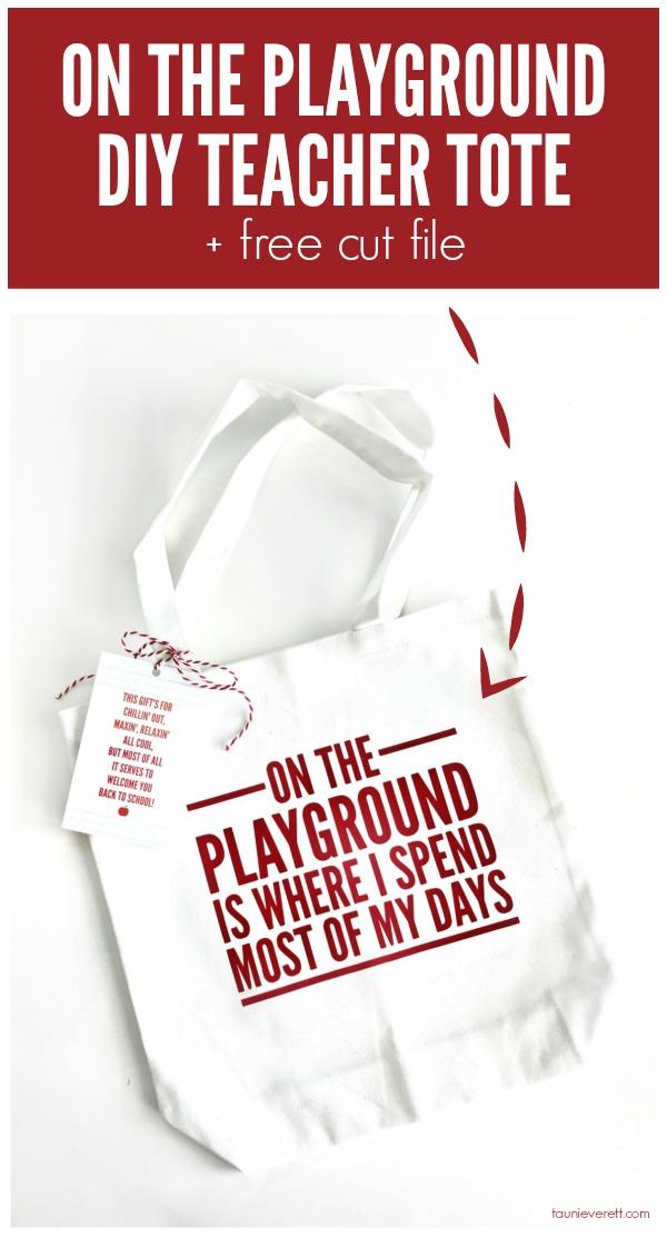DIY School Tote Bag Gift Tag