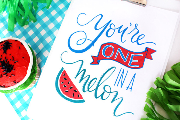 Youre one in a melon art print3