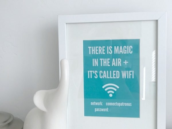 Guest Room WiFi Network and Password Sign