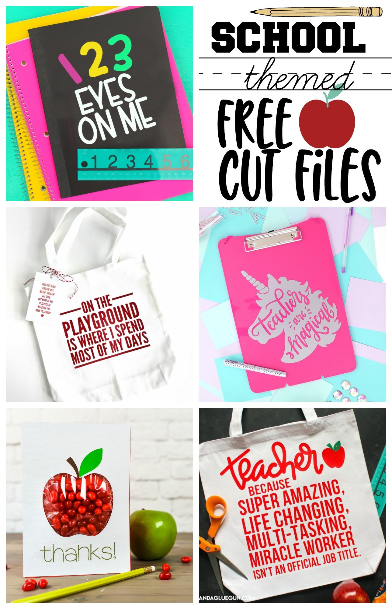 School themed free cut files