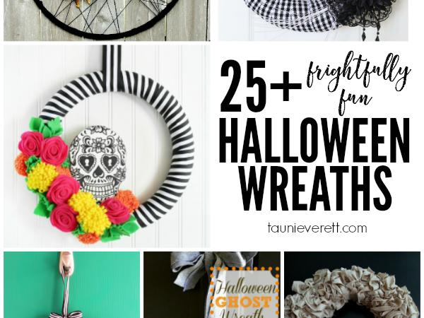 25 + Frightfully Fun Halloween Wreaths