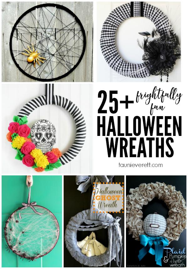 25 frightfully fun halloween wreaths