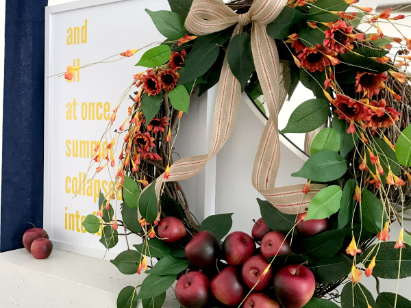 Fall Apple Mantel with Free Prints