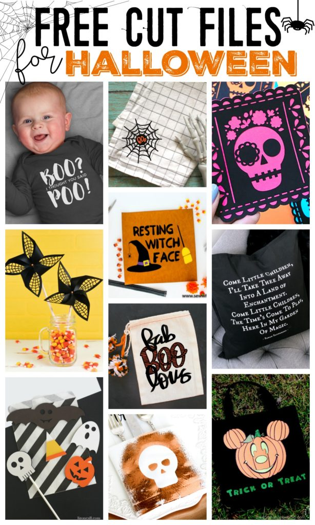 Halloween Cut Files for use with Silhouette or Cricut electronic cutting machine.