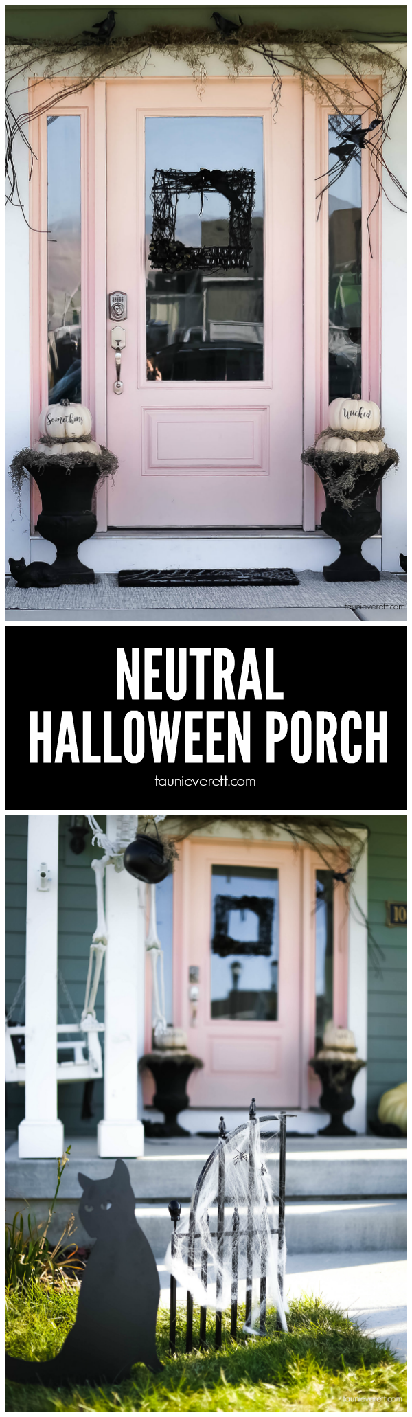 Great ideas for a neutral Halloween Porch