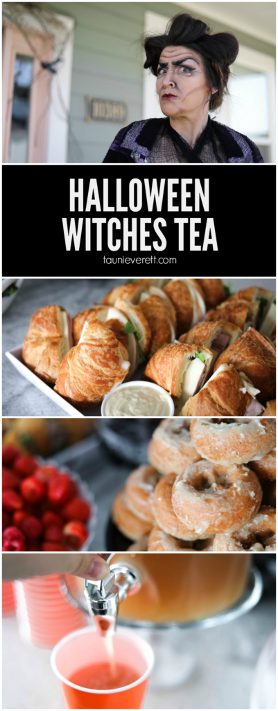 Great ideas for a witches tea, including invitations and a full menu #halloween #witchestea #halloweenparty