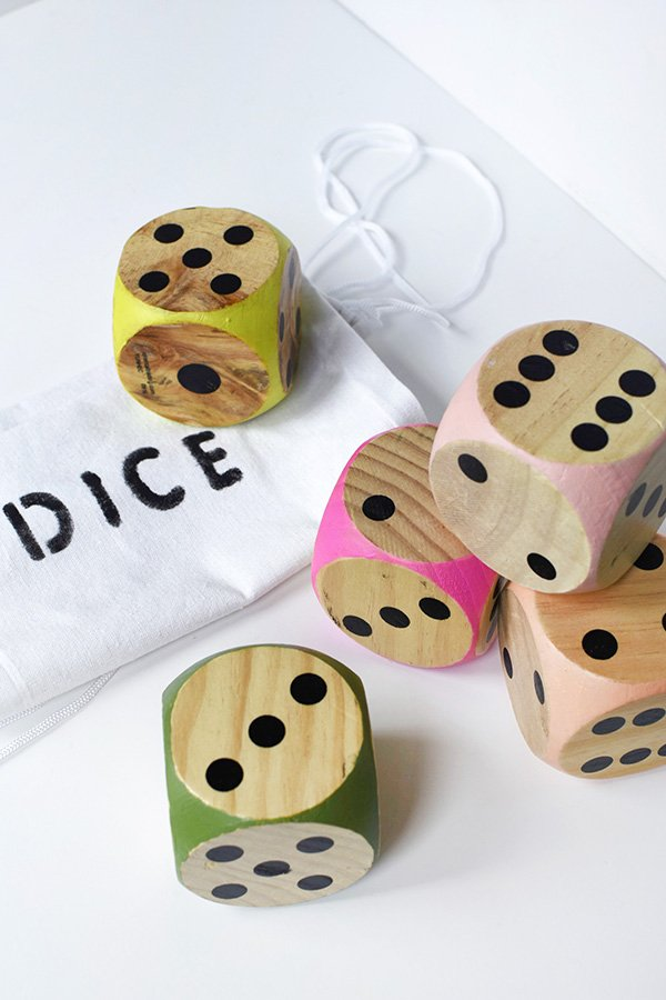 Large diy colorful dice