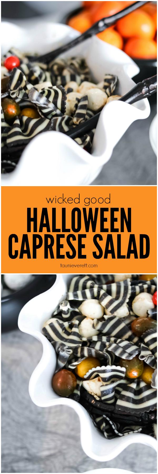 Halloween Caprese Salad