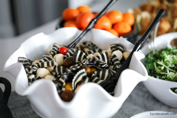 Wicked Good Halloween Caprese Pasta Salad