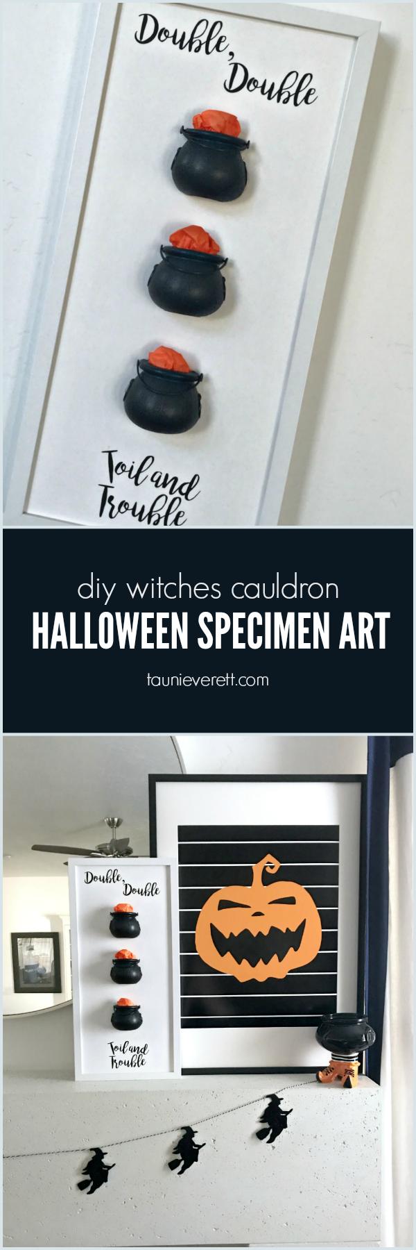 Witches Cauldron Halloween Specimen Art by Tauni Everett