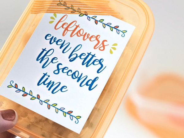 Print + Cut Thanksgiving Leftovers Gift Tag