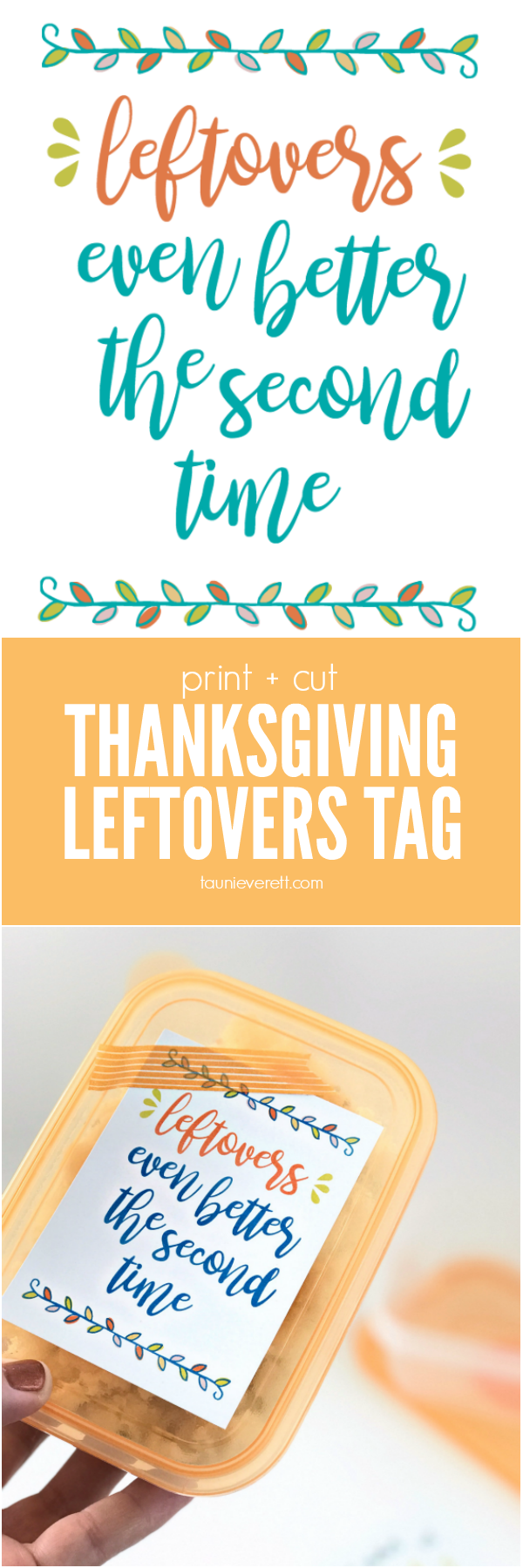 Thanksgiving Leftovers Gift Tag - perfect for thanking guests, labeling leftovers and providing storage/heating instructions. #thanksgiving #thanksgivingleftovers #turkey