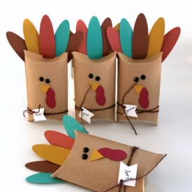Thanksgiving Pillow Box Turkey Place Cards