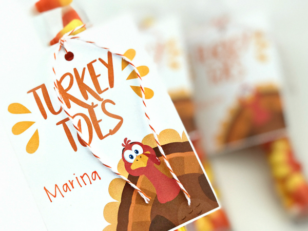 Turkey Toes Gift Tag and Place Cards