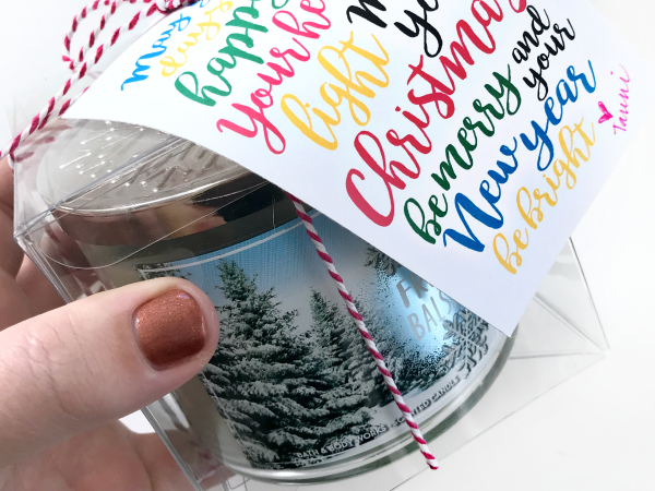 Print + Cut Christmas Candle Gift Tag