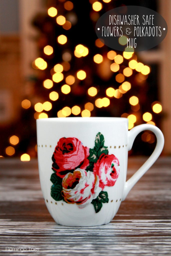 Dishwasher safe, hand decorated mug. Easy last minute Christmas or birthday gifts.