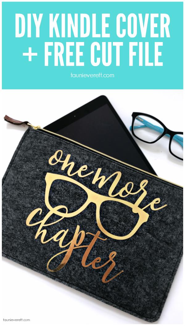 DIY Kindle Cover + Free Cut Files #cutfile #cricut #silhouette #kindlecover