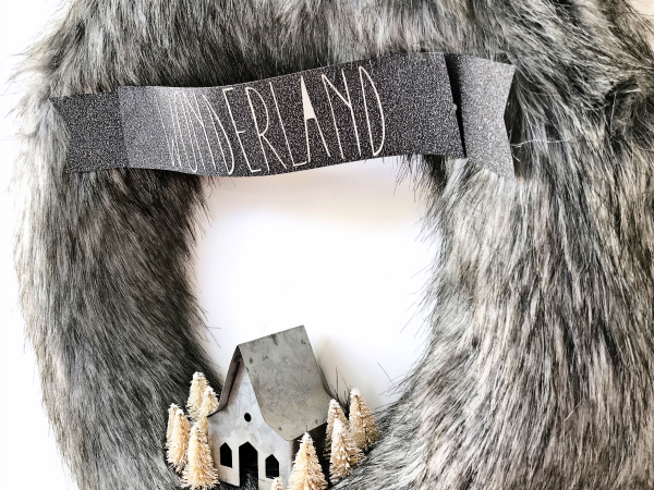 Winter Wonderland Fur Wreath