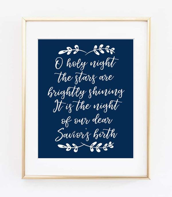 O holy night blue frame