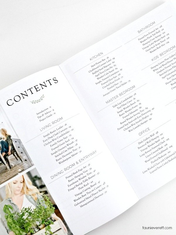 A Touch of Farmhouse Charm Book Review Contents