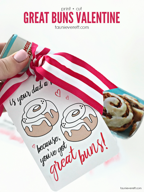 Free download print + cut Great Buns Valentine. #valentine #valentinecards #valentines