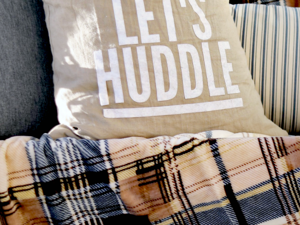 Let's Huddle DIY Football Pillow + Cut File