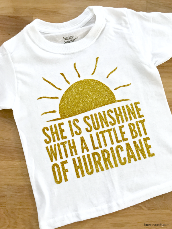 Sunshine and hurricane t-shirt and cut file. #cricut #silhouette #cutfile #diytshirt