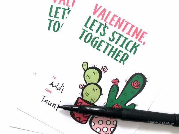 Print + Cut Cactus Valentine