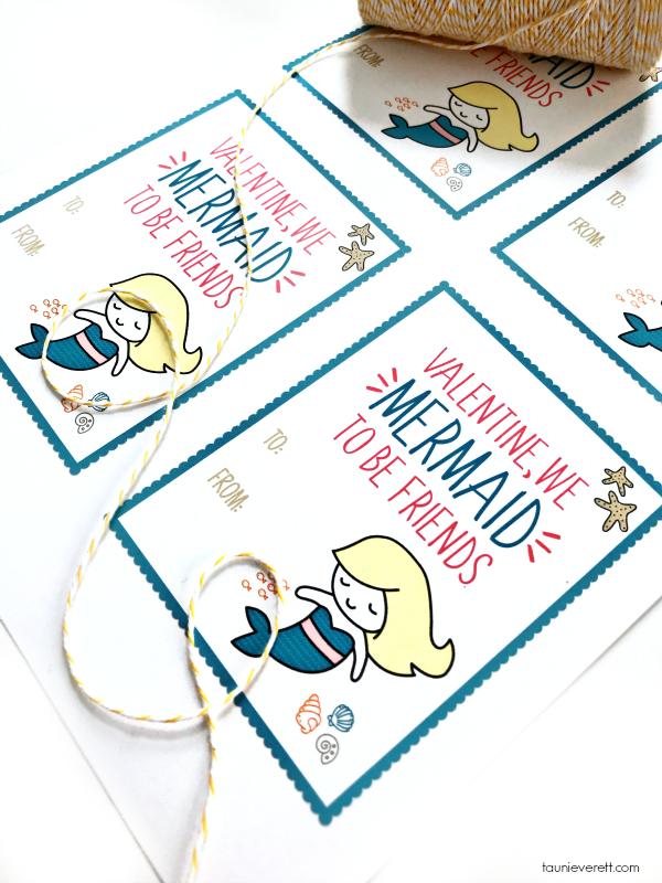 Print + Cut Mermaid Valentine Cards available for instant download #valentine #valentinecards #printable