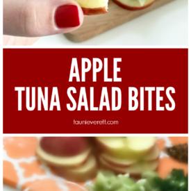 Apple tuna salad bites hero