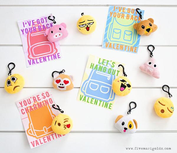 Backpack charm valentine printables five marigolds
