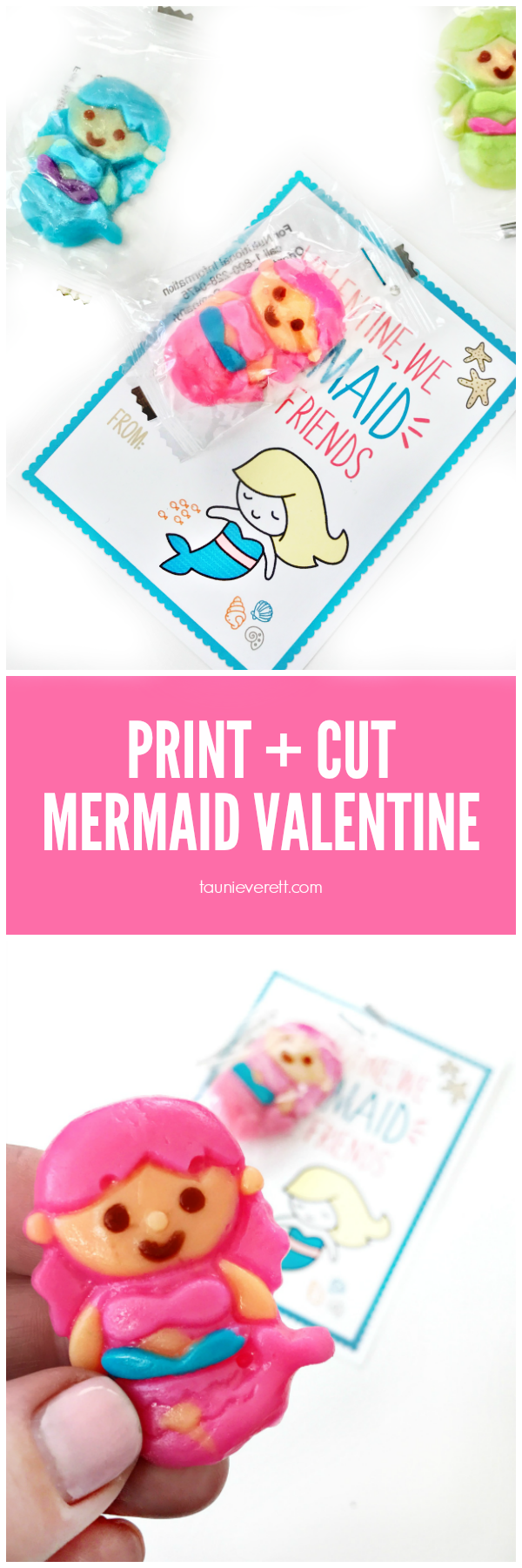 Mermaid Printable Valentine