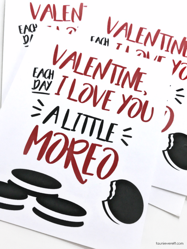 Free print + cut Oreo Valentine available for instant download. #Valentine #ValentinesDay #Oreo #OreoValentine