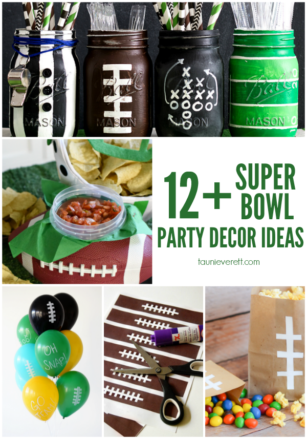 Getting ready for the big game? Don't miss these Super Bowl party decor ideas. #superbowl #football #superbowlparty