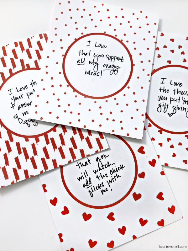 Celebrate your love with this easy print and cut scratch card Valentine Advent Calendar. #valentinesday #valentineadvent #adventcalendar