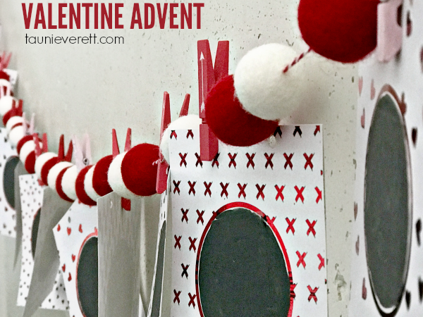Print + Cut Valentine Advent Calendar Scratch Cards