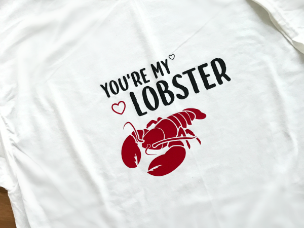 You're My Lobster Cut File + DIY TShirt