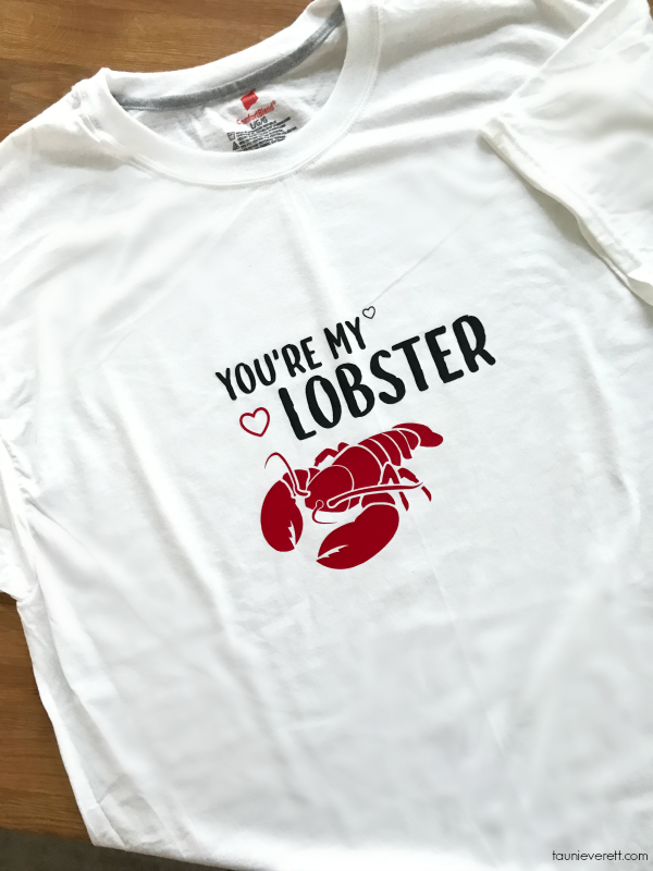 Lobster Valentine's Day DIY Shirt