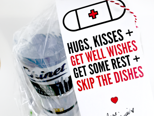 Print + Cut Get Well Skip the Dishes Gift Tag