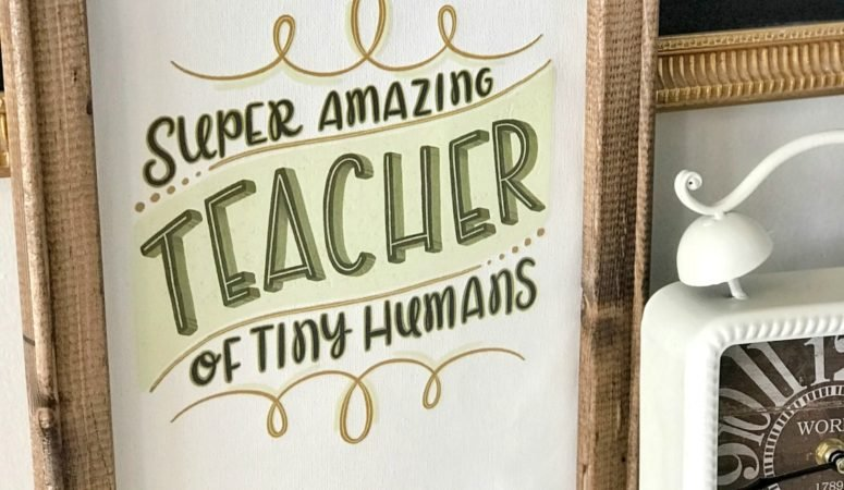 Amazing Teacher Reverse Canvas Teacher Appreciation Gift