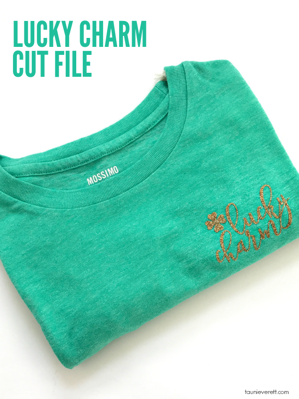 Looking for a fun project for St. Patrick's Day? Don't miss this cute lucky charm cut file! #cutfile #cricut #silhouette