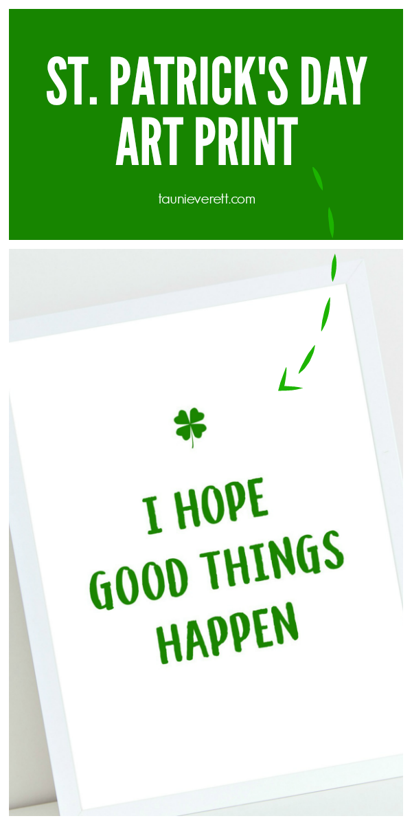 Free downloadable St. Patrick's Day Art Print #stpatricksday #stpatricksdaydecor
