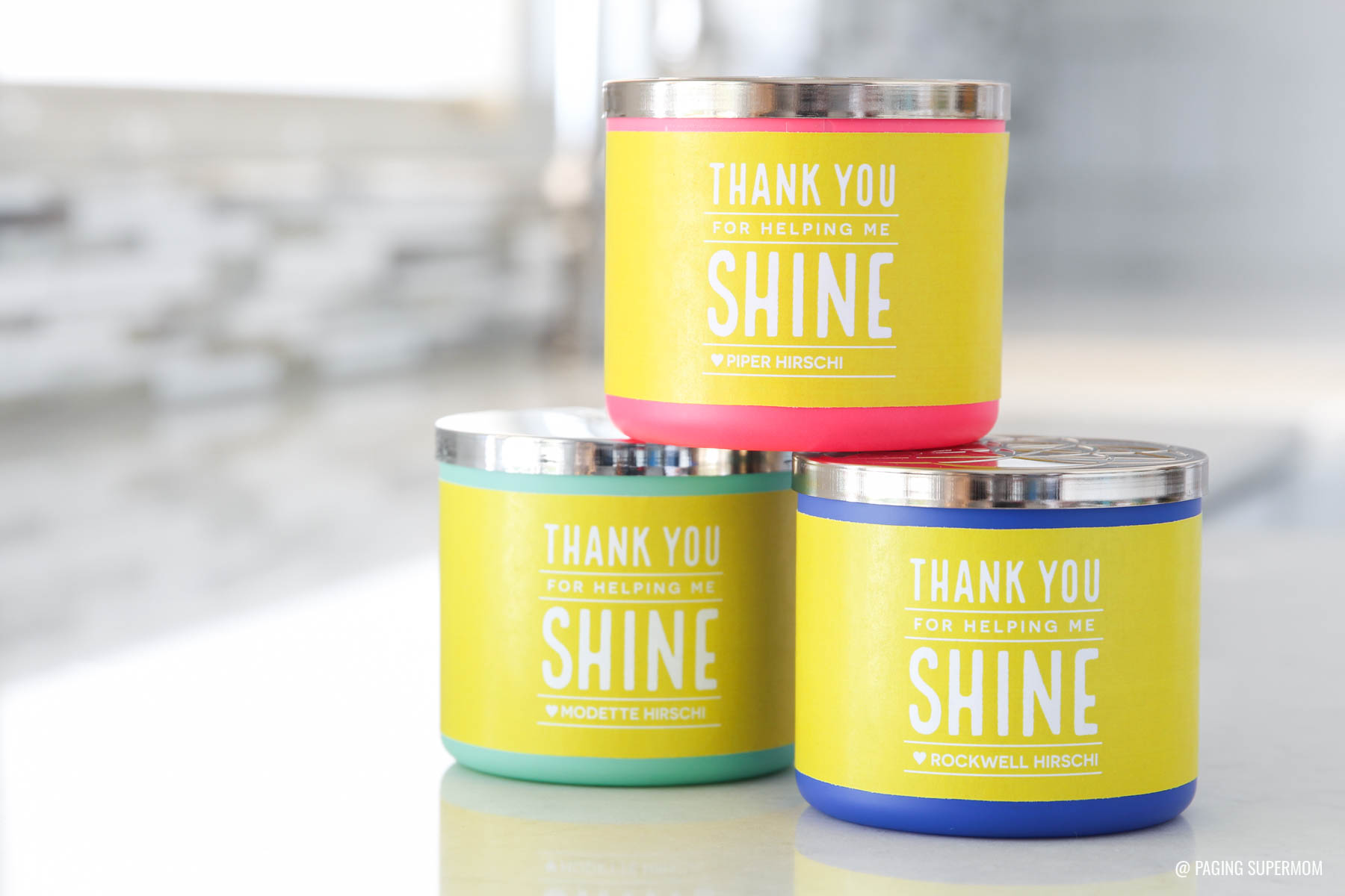 """Thank You for Helping Us Shine"" Teacher Gift Tag for a candle teacher appreciation gift from @PagingSupermom via @TauniandCo"
