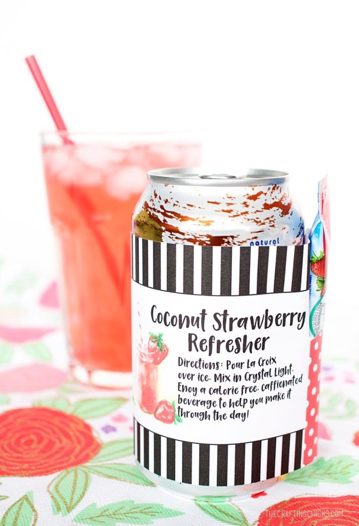 Coconut Strawberry Refresher Kit for Teacher Appreciation