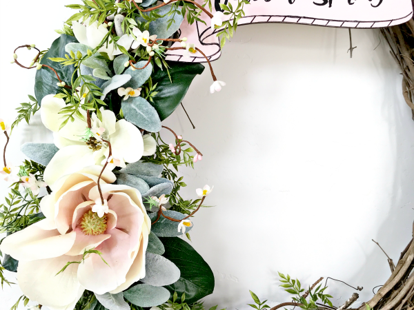 DIY Welcome Spring Wreath