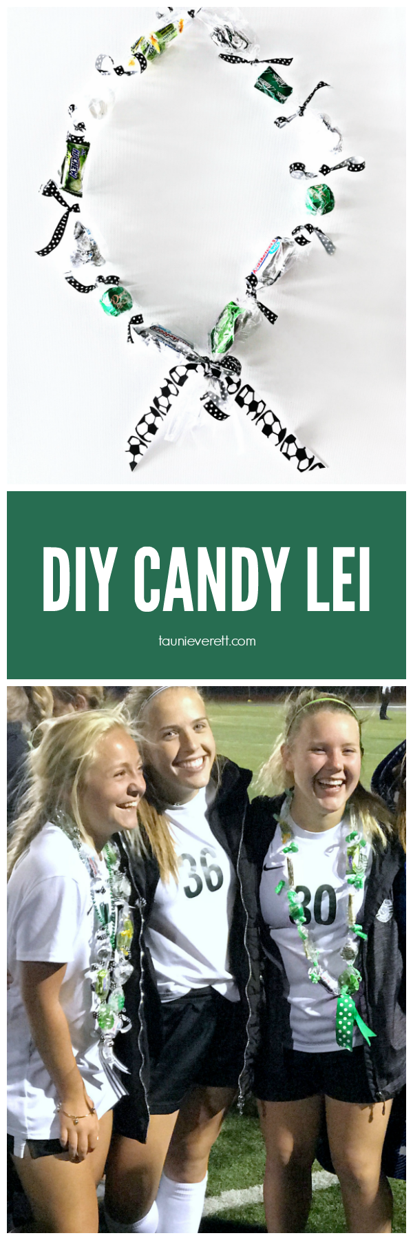 DIY Candy Graduation Lei perfect for graduating seniors or special end of year celebrations.