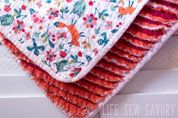 Faux chenille blanket tutorial 1