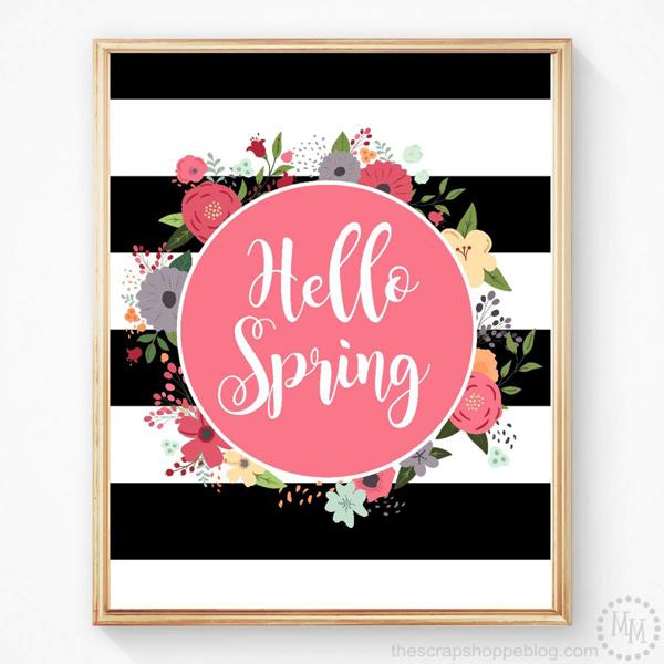 Hello spring free printable 1024x1024