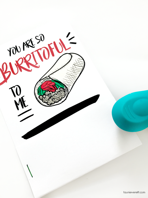 Free printable You Are Burritoful Gift Card Holder. Perfect for teens! #printable #giftcard #gift #tacotuesday
